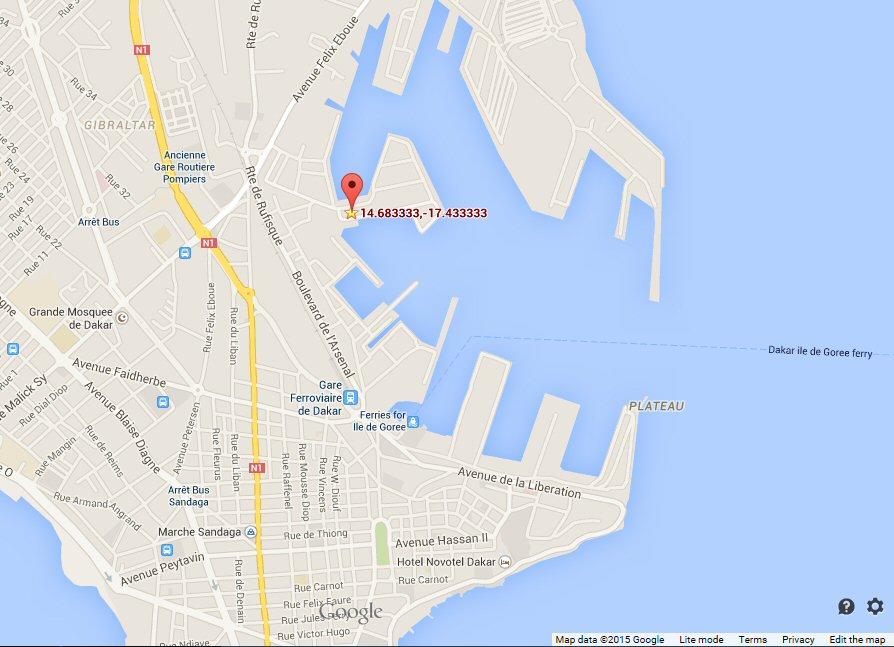 Google Maps Dakar Port Africa FishMoneyBlog